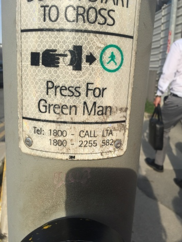 Green Man means Go.